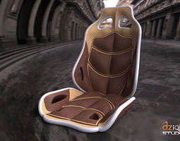 Chair for interior car concept 3D model