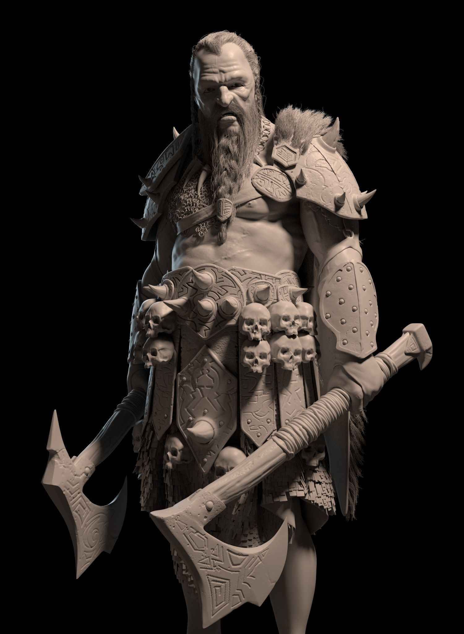 Barbarian Warrior character model - Warhammer