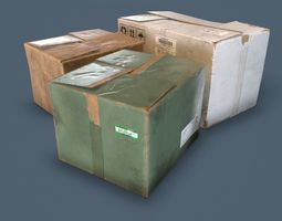 Boxes Common Enviroment Assets VR / AR ready