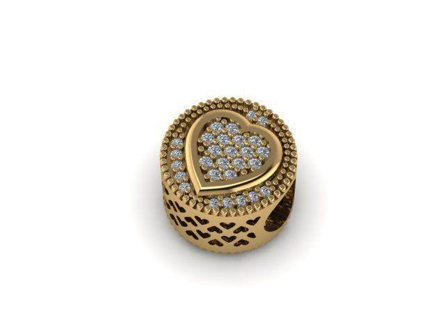 stoned heart charm ball