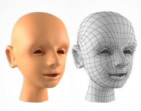 VR / AR ready The Boy Head 3D Model