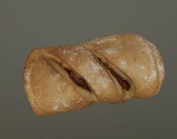 Chorizo - Bacon Bread 3D asset