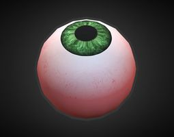 Eyeball 3D model low-poly