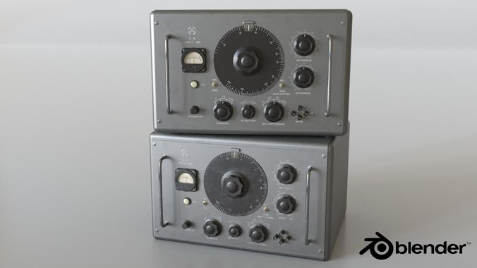 vintage signal generator zg-10 3d model low-poly animated fbx blend unitypackage prefab 1