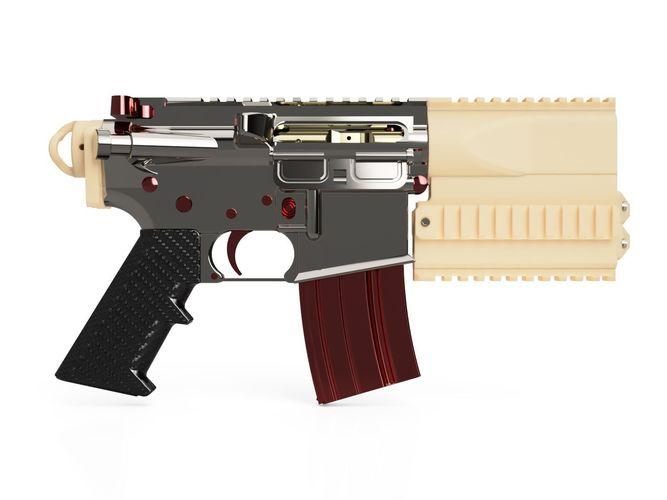 m4 short handguard kit -- boltex  3d model stl 1
