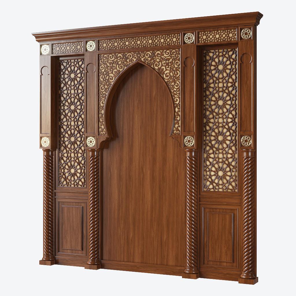 Arabic wood panel
