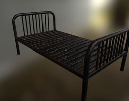 Single Bed 3D model low-poly