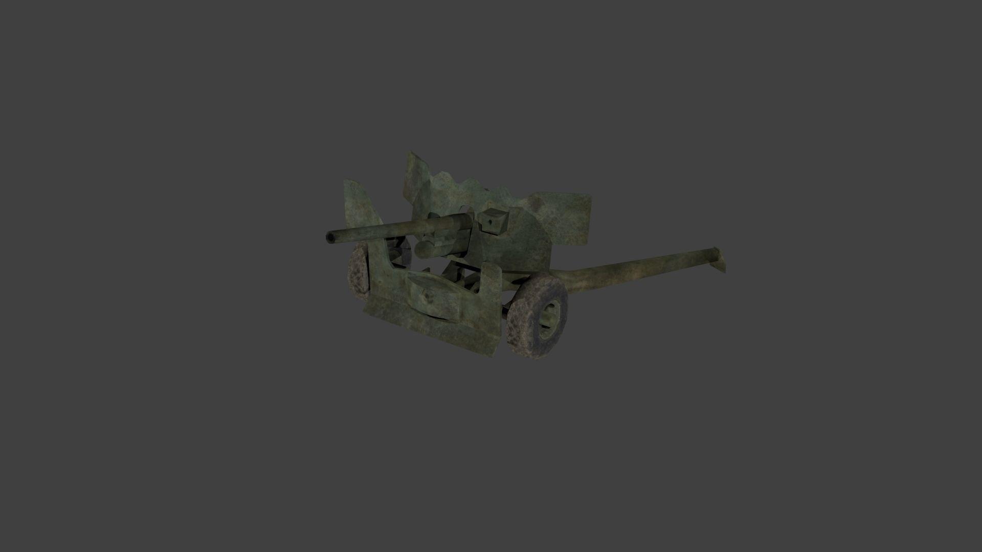 Ordnance QF 6 pounder 57mm M1 anti-tank gun | 3D model