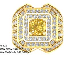 3D print model 621 Luxury Korean Diamond Man Ring