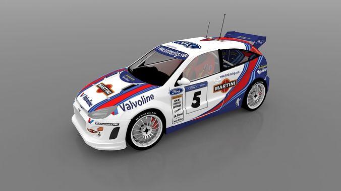 rally car 3d model max obj mtl 3ds fbx wire 1