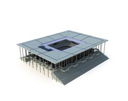 Gymnasium with LOD 3D model