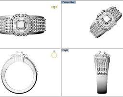 rings 3D print model Indian Jewellery Design