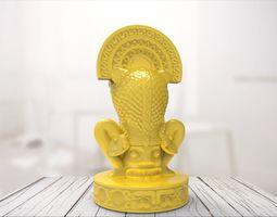 3D Maya statue 05 prototyping