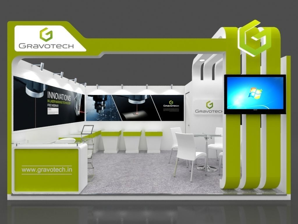 Exhibition Stall Lights : Exhibition stall d model mtr side open gravotech