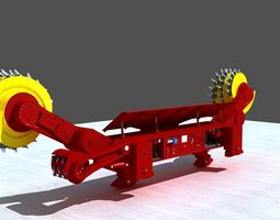 drill 3D model Coal Mining Machine