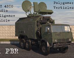 KamaZ 4310 Radio Intelligence Vehicle 3D model
