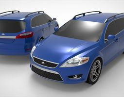 Wagon Mondeo Lowpoly 3D model