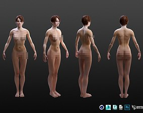 3D model Realistic Female Character