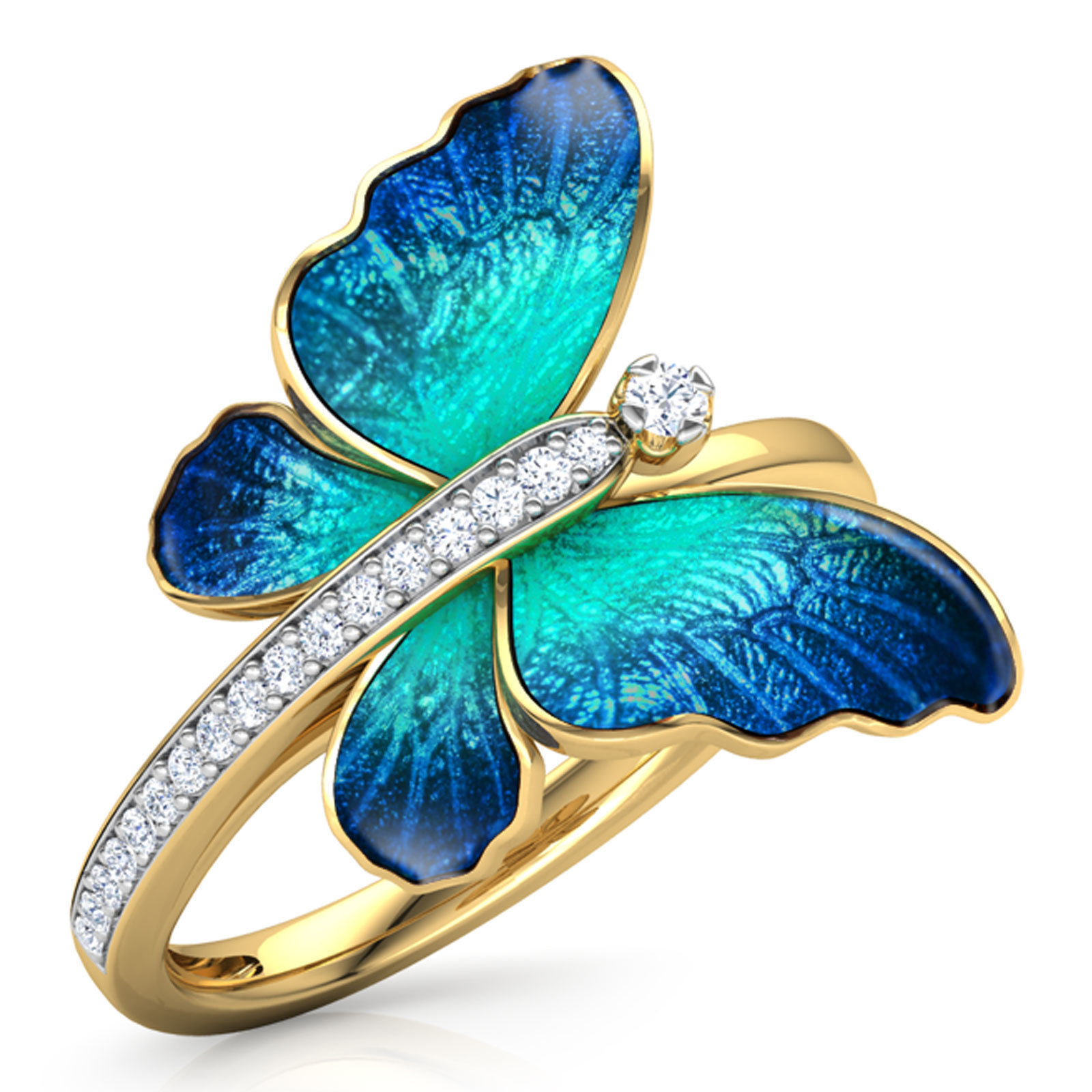 Butterfly Ring 2 with Texture