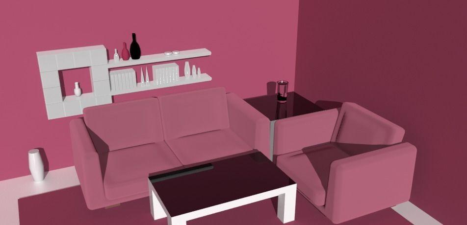 3D cartoon Modern Living Room realtime | CGTrader