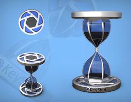 keyshot sand glass 3d