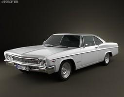 chevrolet impala ss sport coupe 1966 3d model max obj 3ds fbx c4d lwo lw lws
