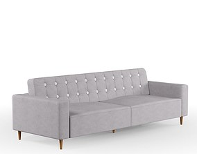 suede Grey Sofa 3D model