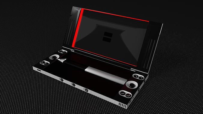 nintendo ds fusion idea 3d model cgtrader. Black Bedroom Furniture Sets. Home Design Ideas