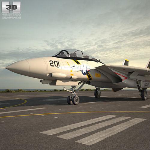 grumman f-14 tomcat 3d model max obj mtl 3ds fbx c4d lwo lw lws 1