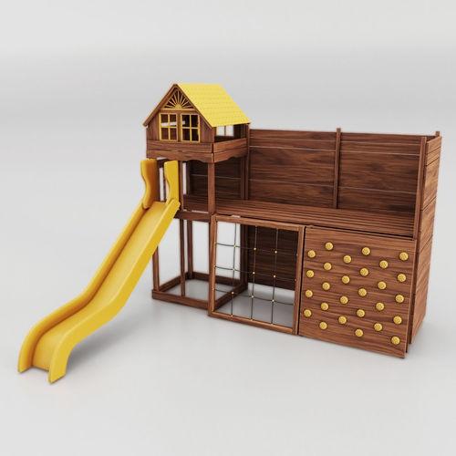 childrens slides wide 3d model max obj mtl fbx 1