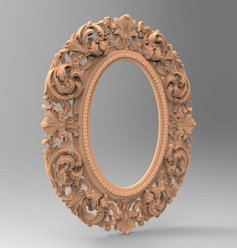 carved cnc 3d print model of mirror frame 3d model max obj mtl 1