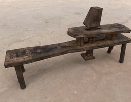 Medieval Carpenter Tool table 3D model