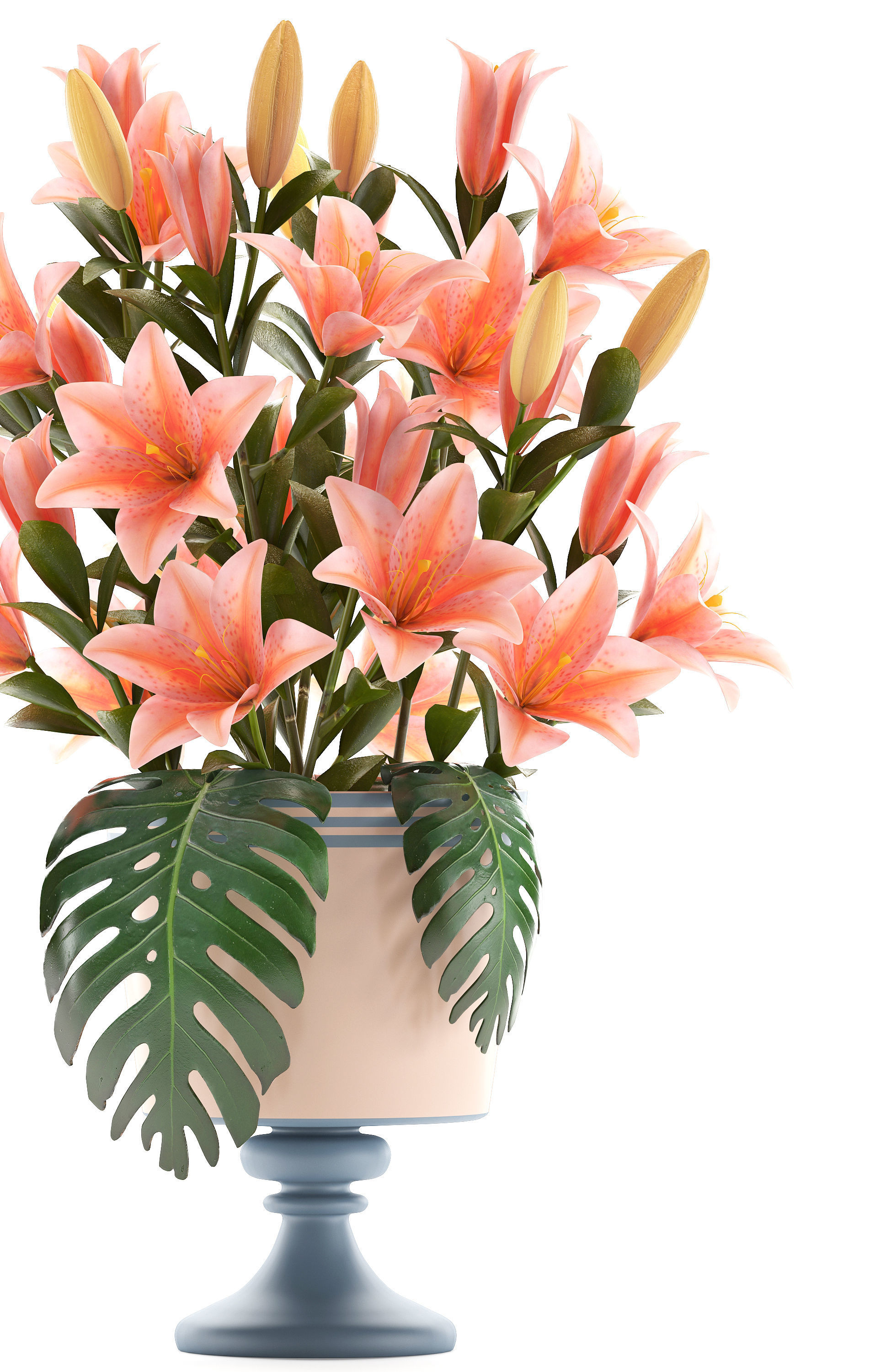 3d model lily bouquet of pink lilies cgtrader bouquet of pink lilies 3d model max obj mtl fbx 2 izmirmasajfo