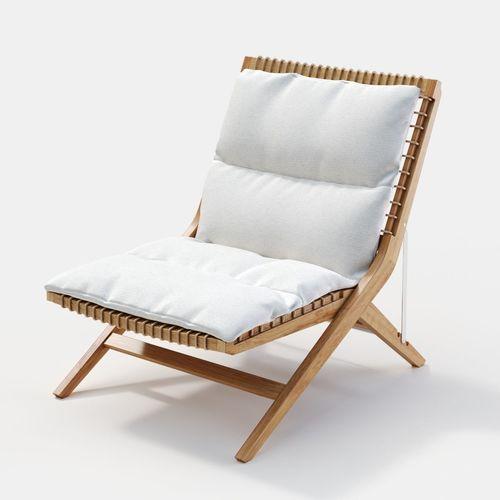 unopiu synthesis folding deckchair 3d model max obj mtl fbx 1