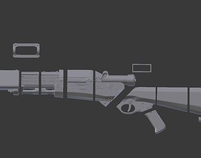 TL-50 heavy repeatable blaster from 3D printable model 3