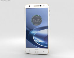Motorola Moto Z Force Fine Gold 3D