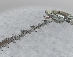 3D model EGKK South Terminal