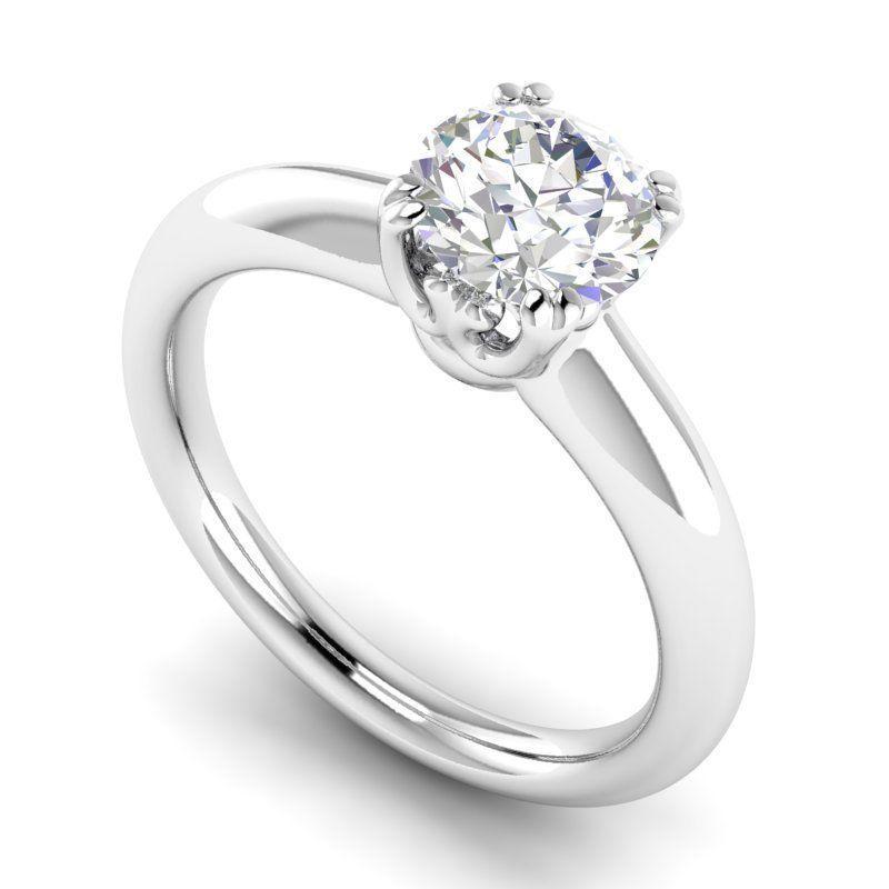 Engagement Ring With Diamond 5 3D Model 3D Printable STL 3DM