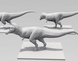 3D printable model T Rex High Quality three poses