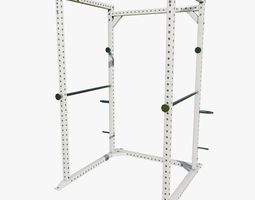 3D model Low Poly Gym Squat Rack Machine