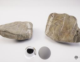 River rock 002 - Photogrammetry 3D asset