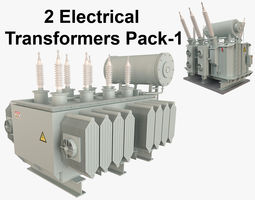 3D model 2 Electrical Transformers Pack 1