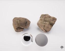 3D asset River rock 006 - Photogrammetry