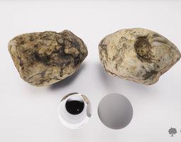 3D asset low-poly River rock 007 - Photogrammetry
