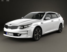 Kia Optima wagon 2017 3D model