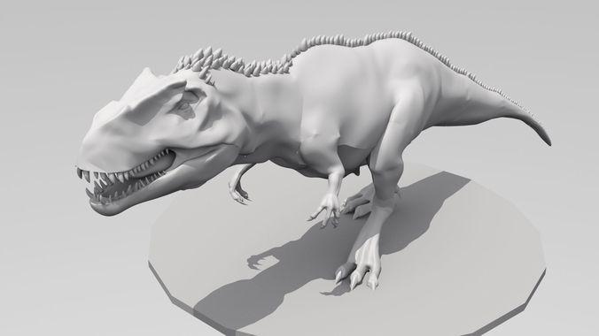 giganotosaurus  high ploy 3d model fbx stl 1