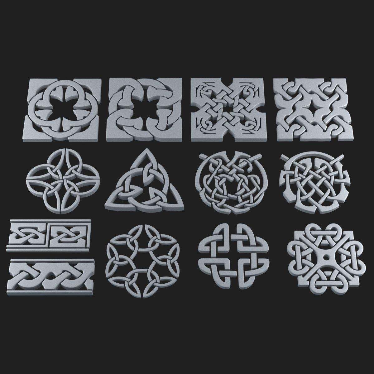 Celtic ornament pack 2 model