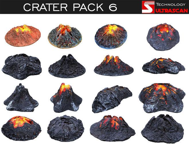 crater pack 6 3d model max obj mtl 1