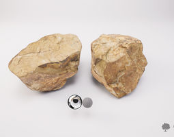 3D asset Stone 002 - Photogrammetry