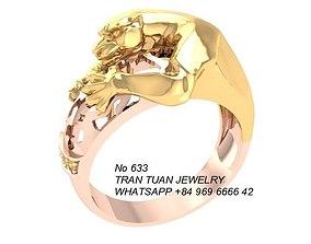 633 Leopard Ring 3D printable model